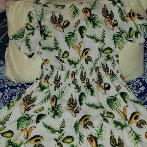 Forever 21 Dresses - Forever 21 Plus Avocado Print Mini Dress